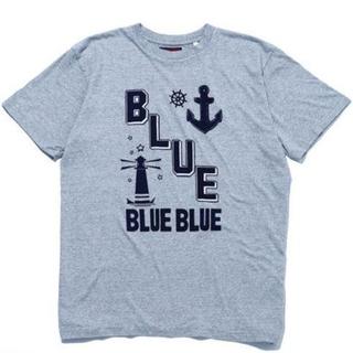 ブルーブルー(BLUE BLUE)の【BLUE BLUE】ブルーブルー 半袖Tシャツ グレー 定価5,500円 新品(Tシャツ/カットソー(半袖/袖なし))