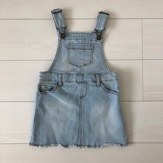 オールドネイビー(Old Navy)の【美品】OLDNAVYデニムジャンパースカート 3T(ワンピース)