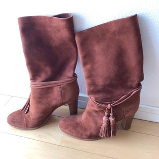 バーニーズニューヨーク(BARNEYS NEW YORK)の【美品】import  スエード革 ゆるブーツ ブラウン(ブーツ)