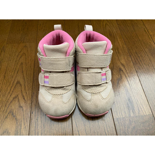asics - asics 靴 スニーカー スクスク ベージュ 14.5cm
