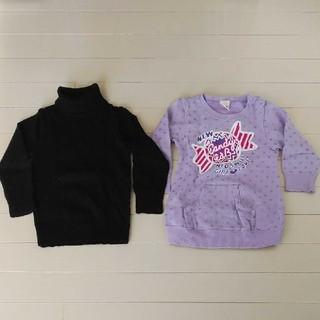 エーアーベー(eaB)の 女児用95センチタートルネックセーター、90センチトレーナー(Tシャツ/カットソー)