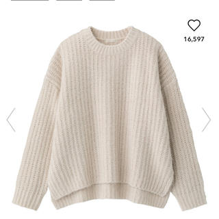 GU - ジーユー モールフェザーヤーンオーバサイズセーター