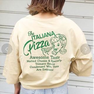 LOWRYS FARM - Pizza プリントTシャツ zozotown限定アイテム アプレジュール