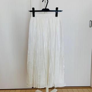 ラグナムーン(LagunaMoon)の新品タグ付き ラグナムーンシャイニーミモレ丈スカート(ロングスカート)