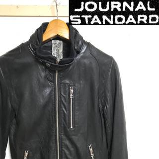 ジャーナルスタンダード(JOURNAL STANDARD)の美品!ジャーナル スタンダード ラムレザー(羊革)シングルライダース ブラック(レザージャケット)