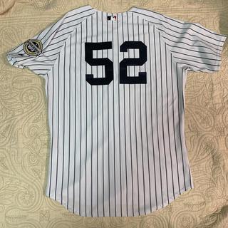 Majestic - MLB ヤンキース C.C.サバシア 選手 オーセンティック ユニフォーム 48