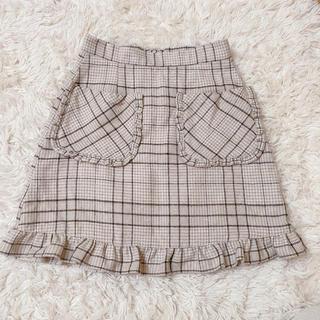 ハニーシナモン(Honey Cinnamon)のHoney Cinnamon チェック 台形スカート(ミニスカート)