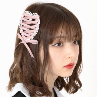 Ank Rouge - スピンドルリボンピン ピンク 完売未使用