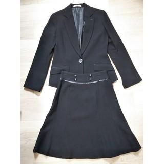 ツイード 黒 スーツ ジャケット スカート オフィス(スーツ)