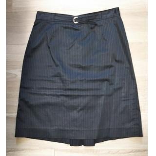 リンクイットオール(LINK IT ALL)のスカート 黒 ストライプ オフィス 4点(ひざ丈スカート)