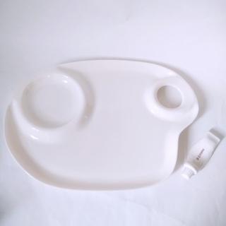 フェリシモ(FELISSIMO)の絵の具パレットのようなお皿&箸置き ホワイト(食器)