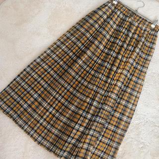 しまむら - チェックプリーツロングスカート