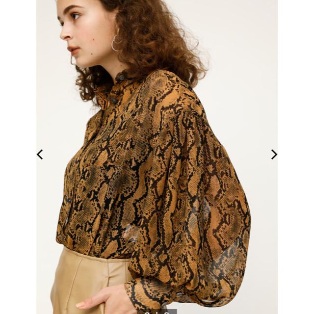 SLY(スライ)の新品 sly パイソンボリュームスリーブシャツ ブラウス トップス レディースのトップス(シャツ/ブラウス(長袖/七分))の商品写真