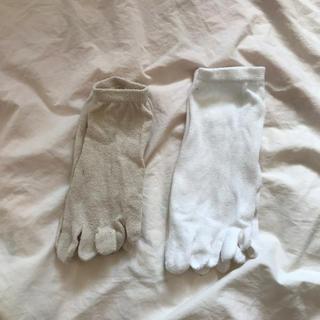 5本指ソックス 絹綿2足組 冷えとり用(ソックス)