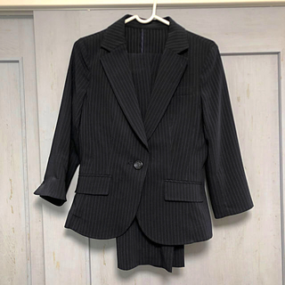 アールユー(RU)のパンツスーツ セットアップ ネイビー 濃紺(スーツ)