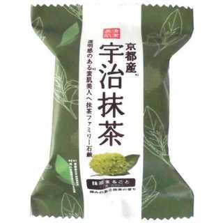 京都産宇治抹茶でしっとりと保湿!宇治抹茶ファミリー石鹸 80g(洗顔料)