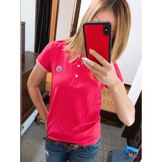 モンクレール(MONCLER)のMONCLER モンクレール ポロシャツ ピンク(ポロシャツ)
