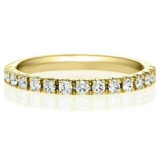 ブリリアンスプラス ハーフエタニティ ダイヤリング k18 0.28ct(リング(指輪))