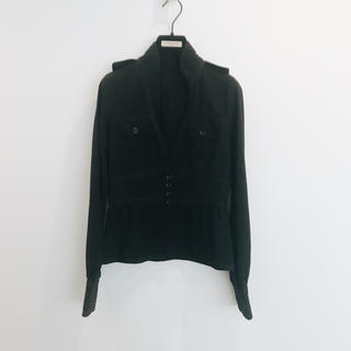 LE CIEL BLEU - ルシェル ブルー ウエストマーク スタンドカラーシャツ 美品