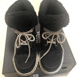 ソレル(SOREL)のソレル 22.5 5.5 sorel ブラック 黒 靴 ブーツ レディース (ブーツ)