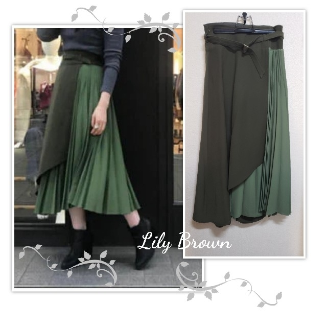 Lily Brown(リリーブラウン)のLily Brown🖤アシンメトリープリーツスカート レディースのスカート(ロングスカート)の商品写真
