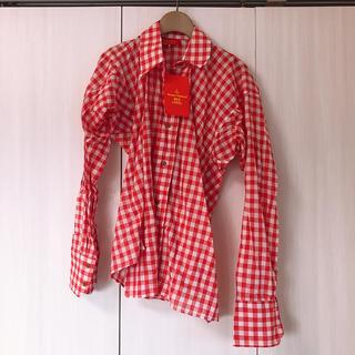 Vivienne Westwood - 新品 ヴィヴィアンウエストウッド ギンガムチェック 変形 シャツ