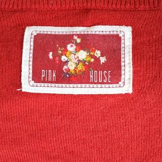 PINK HOUSE - ピンクハウスワッペン付き綿ニットカーディガン