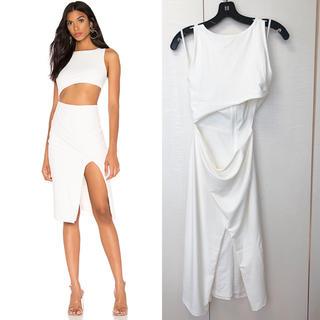 asos - エイソス購入 ホワイトドレス ワンピース タイト ボディコン