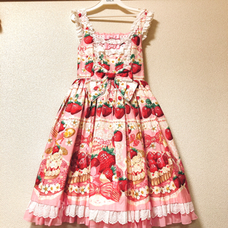 Angelic Pretty - Strawberry Whip JSK&KC ピンク