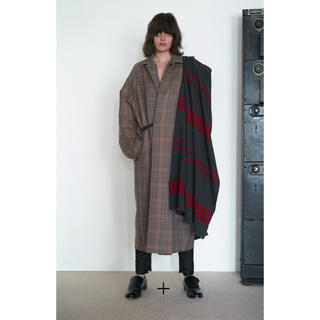 SUNSEA - sunsea サンシー 19AW Caramel Check Coat