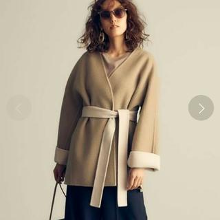 ミラオーウェン(Mila Owen)のミラオーウェン ベルト付き ノーカラー リバーコート(ノーカラージャケット)