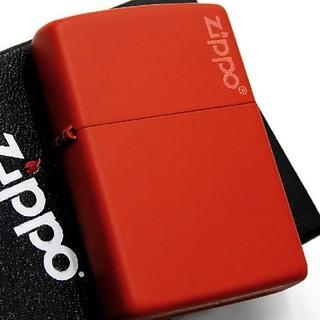 ジッポー(ZIPPO)の(送料込み)ZIPPO◇レッドマット◇ジッポロゴ◇新品◇ジッポ(タバコグッズ)