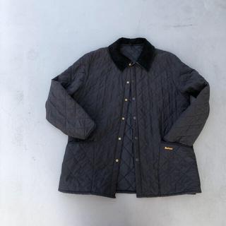 バーブァー(Barbour)のバブアーキルティングジャケット ブラック 90s ヴィンテージ  イングランド(ミリタリージャケット)