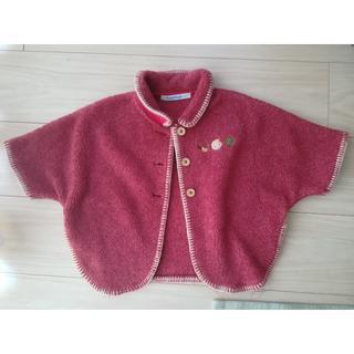 familiar - 袖付きケープ (70-80サイズ)