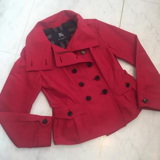 バーバリー(BURBERRY)のバーバリーロンドン スプリングコート ショート丈 赤(スプリングコート)