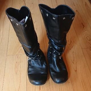 子供用 ブーツ 黒 21.0cm(ブーツ)