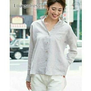 ラウンジドレス(Loungedress)のLOUNGEDRESS リネンtieバックシャツ(シャツ/ブラウス(長袖/七分))