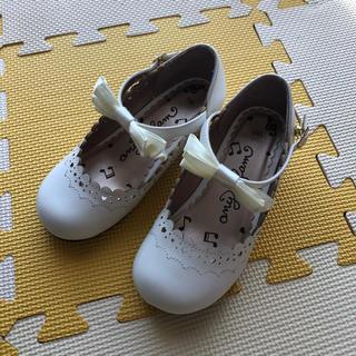 anyFAM - anyFAM kids シューズ フォーマル   靴 発表会 白 18cm