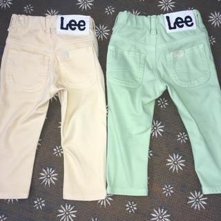 Lee - Lee キッズパンツセット 黄色、黄緑90cm
