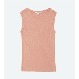 ユニクロ(UNIQLO)のユニクロ スリーブレスセーター オレンジ Sサイズ 未着用♪(Tシャツ(半袖/袖なし))