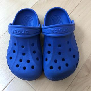 クロックス(crocs)のクロックス キッズ サンダル 8c9 15.5㎝ ブルー(サンダル)