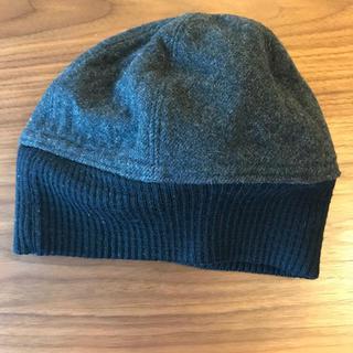 プラダ(PRADA)のPRADA プラダ ニット帽 ニットキャップ グレー(ニット帽/ビーニー)