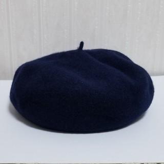 カシラ(CA4LA)のCA4LA ベレー帽 紺(ハンチング/ベレー帽)