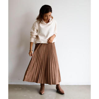 Auntie Rosa - スウェードプリーツスカート