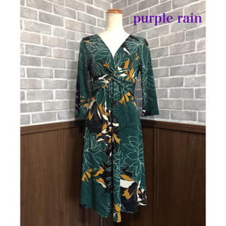 purple rain ワンピース(ひざ丈ワンピース)