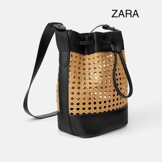 ZARA - ZARA ザラ 新品 籐素材 編み込み バスケット ショルダーバッグ