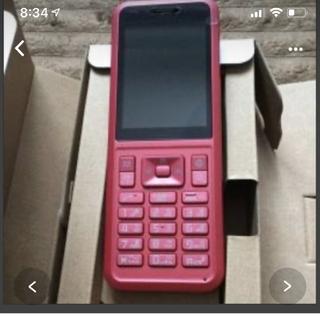 ソフトバンク(Softbank)の新品未開封 simply 602SI RED(携帯電話本体)