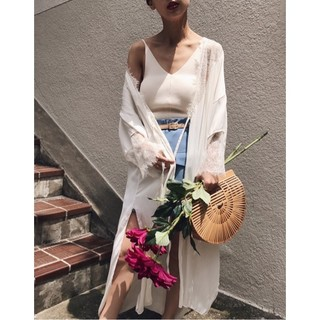 Ameri VINTAGE - アメリヴィンテージ SATIN LACE LONG GOWN