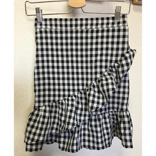 ZARA - ♡本日限定お値下♡ セレクト購入 ギンガムチェック フリル スカート M♡