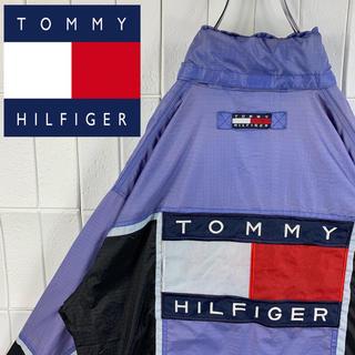 トミーヒルフィガー(TOMMY HILFIGER)のトミーヒルフィガー バックロゴ デカロゴ ゆるだぼ 90s ナイロン ブルゾン(ナイロンジャケット)
